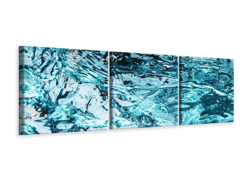 Panorama Leinwandbild 3-teilig Schönheit Wasser