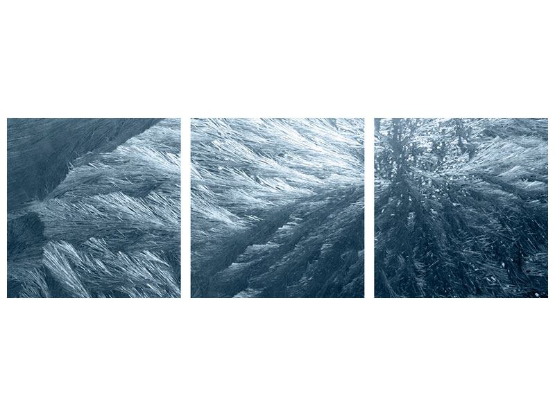 Panorama Leinwandbild 3-teilig Eis