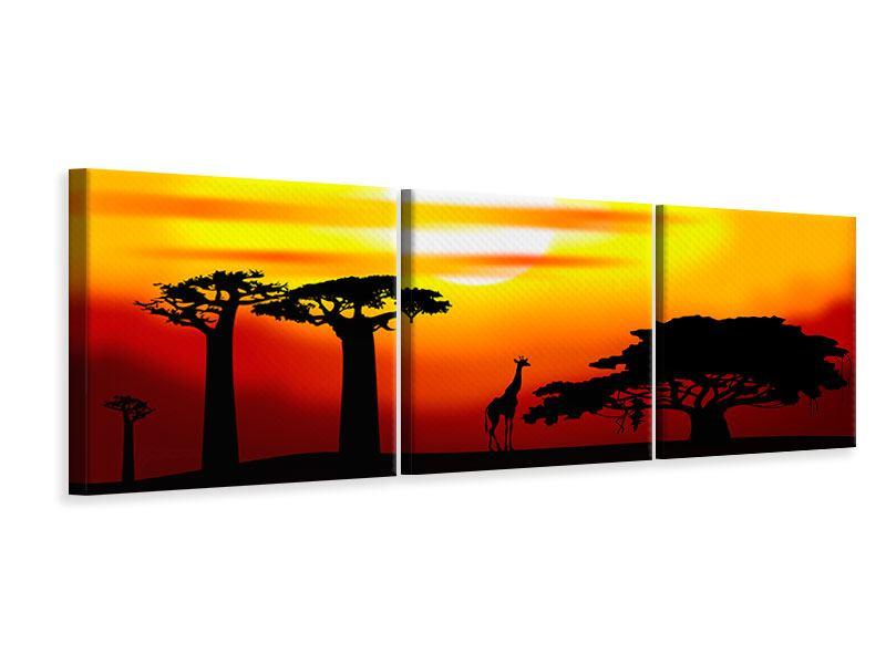 Panorama Leinwandbild 3-teilig Faszination Afrika