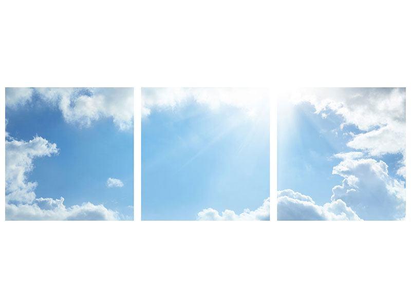 Panorama Leinwandbild 3-teilig Himmelshoffnung