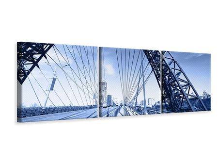 Panorama Leinwandbild 3-teilig Schiwopisny-Brücke