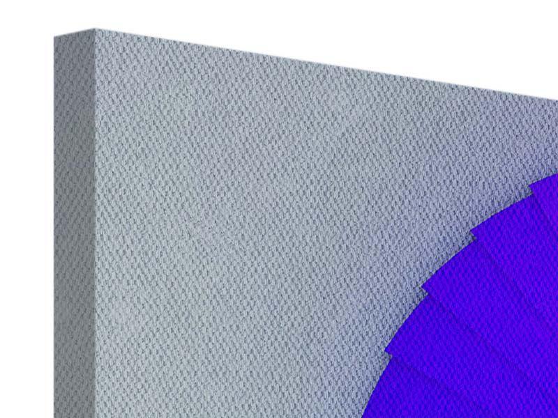 Panorama Leinwandbild 3-teilig Bunte Wendeltreppe 3D