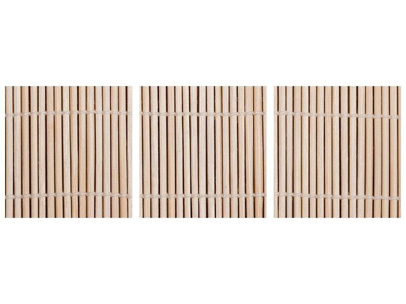 Panorama Leinwandbild 3-teilig Lucky Bamboo