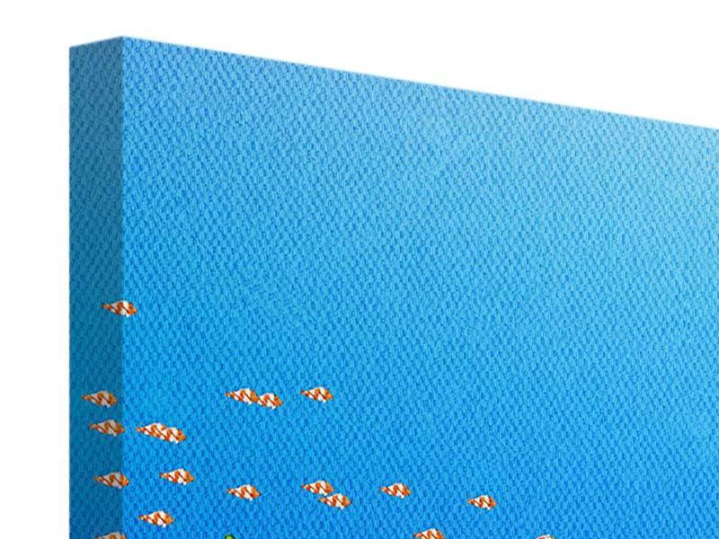 Panorama Leinwandbild 3-teilig Der Schatz unter Wasser