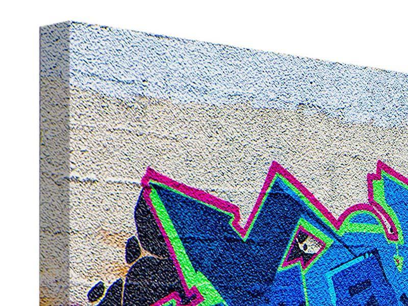 Panorama Leinwandbild 3-teilig Graffiti NYC