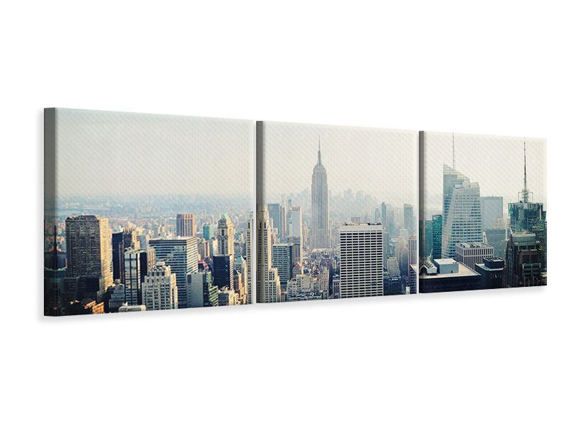 Panorama Leinwandbild 3-teilig NYC