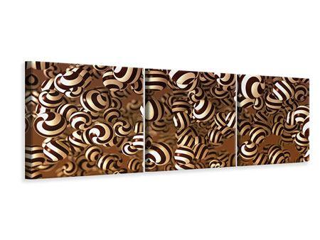 Panorama Leinwandbild 3-teilig Schokoladen-Bonbons