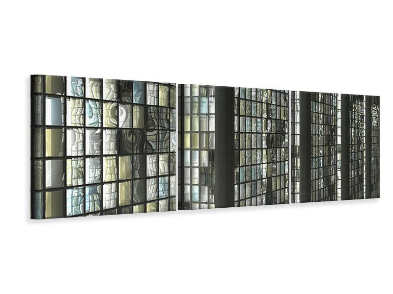 Panorama Leinwandbild 3-teilig Windows