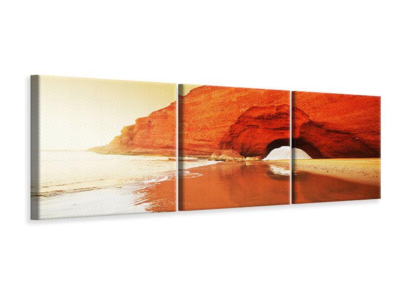 Panorama Leinwandbild 3-teilig Wasserspiegelung