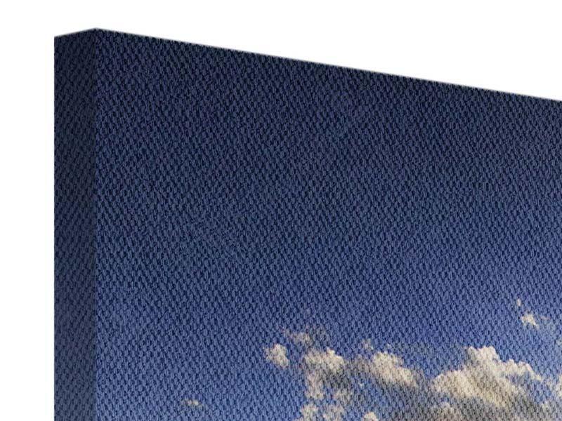 Panorama Leinwandbild 3-teilig Das Meer im Sonnenaufgang