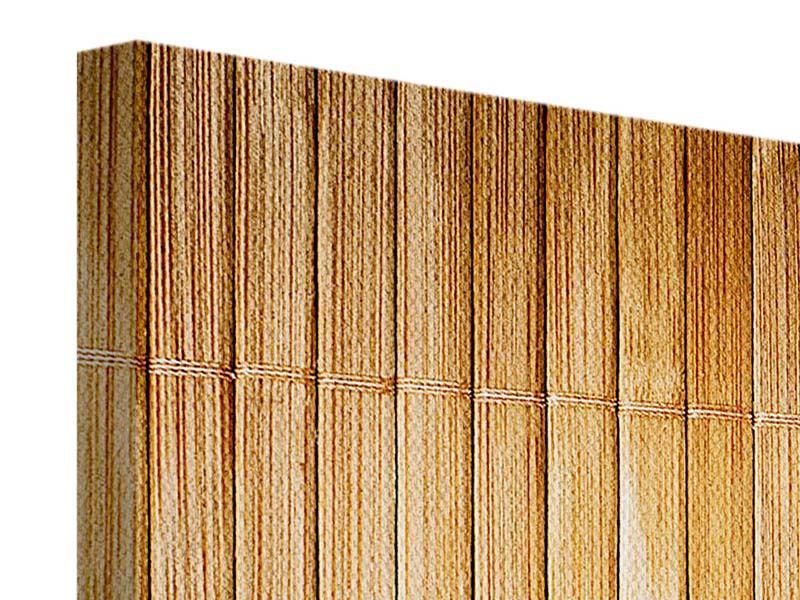 Panorama Leinwandbild 3-teilig Bambusrohre