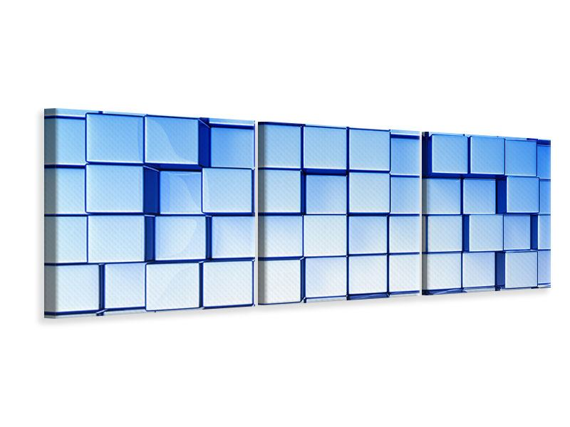 Panorama Leinwandbild 3-teilig 3D-Symetrie