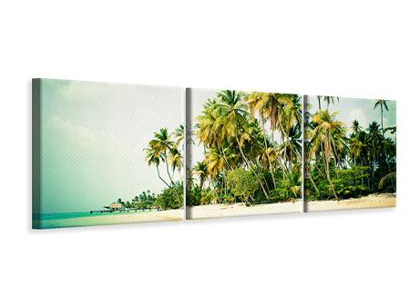 Panorama Leinwandbild 3-teilig Tobago Cays
