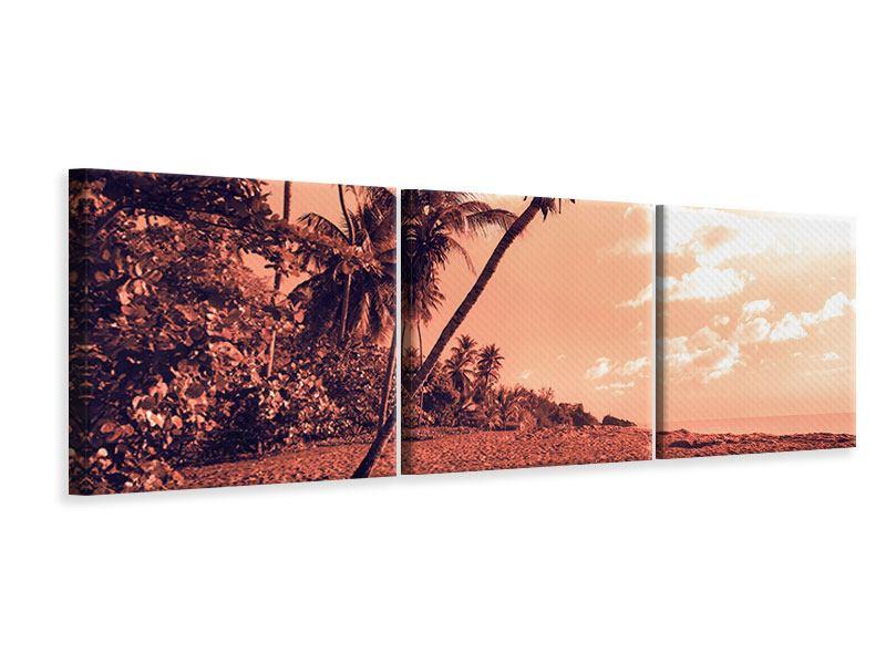Panorama Leinwandbild 3-teilig Tropenparadies