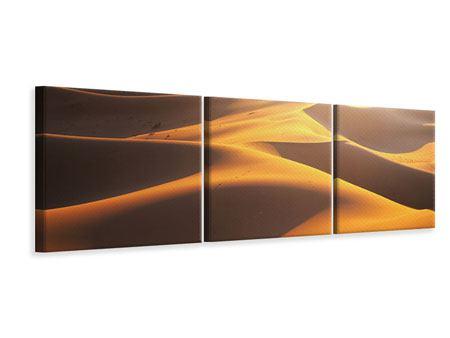 Panorama Leinwandbild 3-teilig Wüstenwanderung