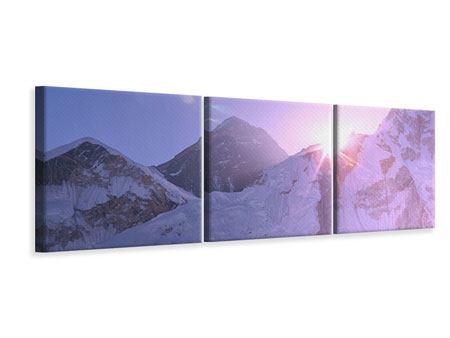 Panorama Leinwandbild 3-teilig Sonnenaufgang beim Mount Everest