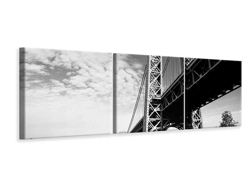 Panorama Leinwandbild 3-teilig Georg-Washington-Bridge