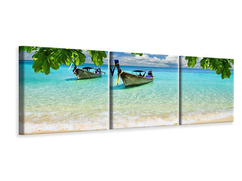 Panorama Leinwandbild 3-teilig Ein Blick auf das Meer