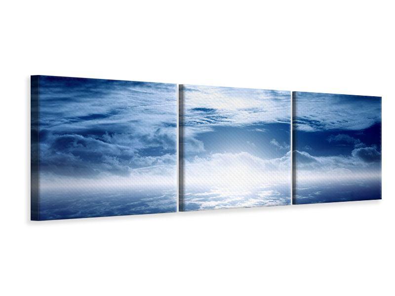 Panorama Leinwandbild 3-teilig Mystischer Himmel