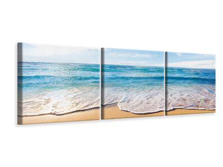 Panorama Leinwandbild 3-teilig Spuren im Sand