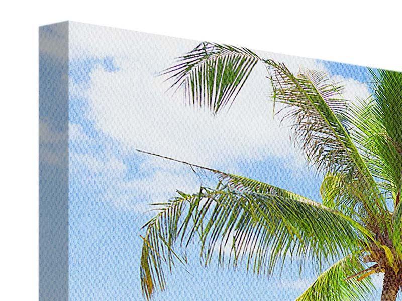 Panorama Leinwandbild 3-teilig Die eigene Insel