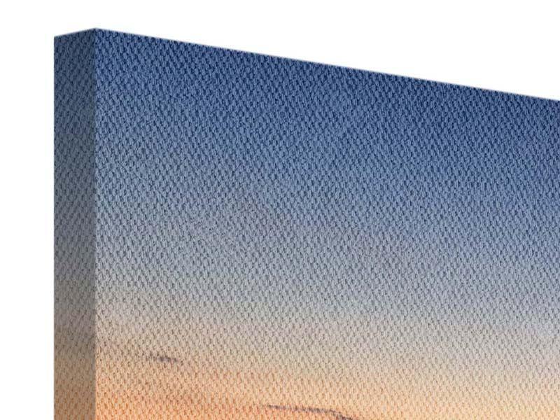 Panorama Leinwandbild 3-teilig Der Steg