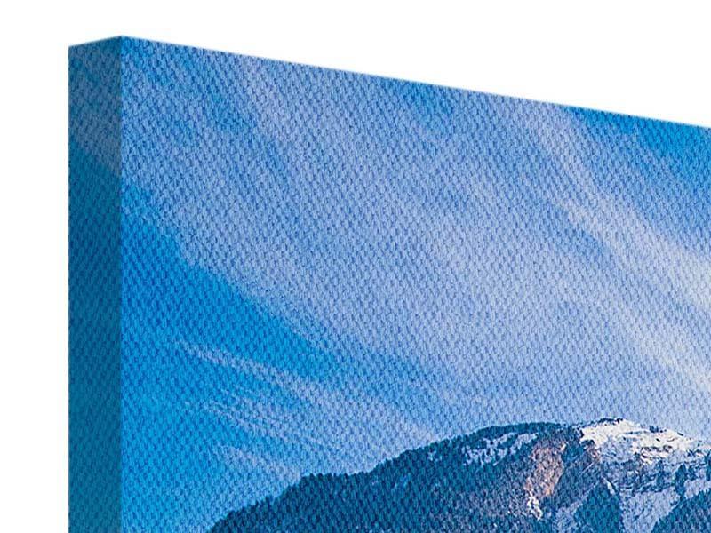 Panorama Leinwandbild 3-teilig Winterwunderland