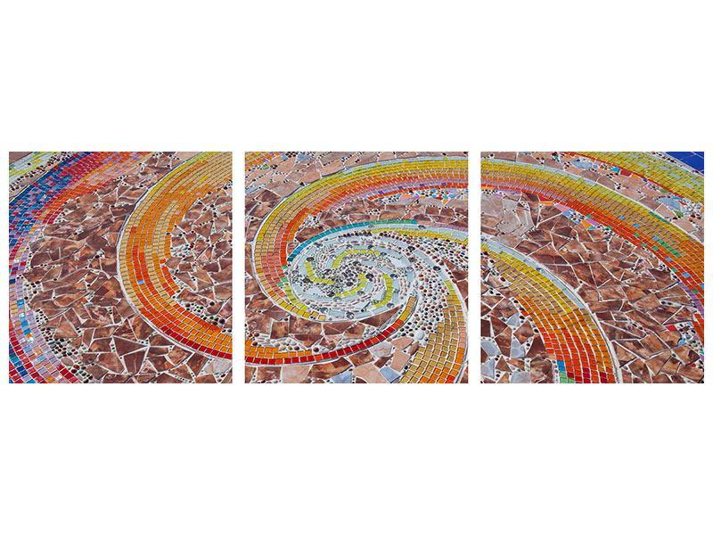 Panorama Leinwandbild 3-teilig Mosaik