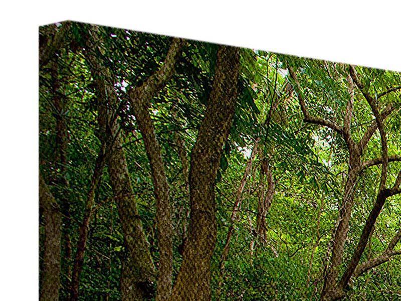 Panorama Leinwandbild 3-teilig Die 7 Stufen