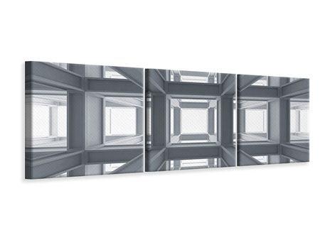 Panorama Leinwandbild 3-teilig Räume
