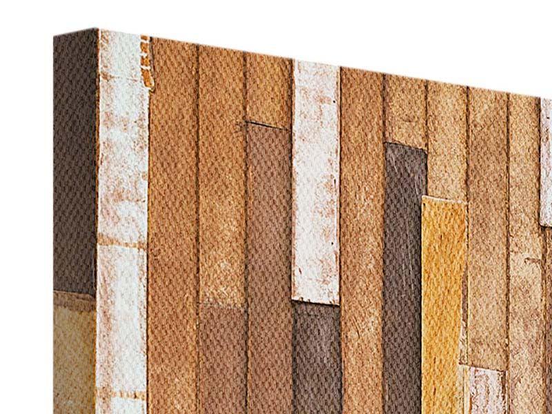 Panorama Leinwandbild 3-teilig Designholz