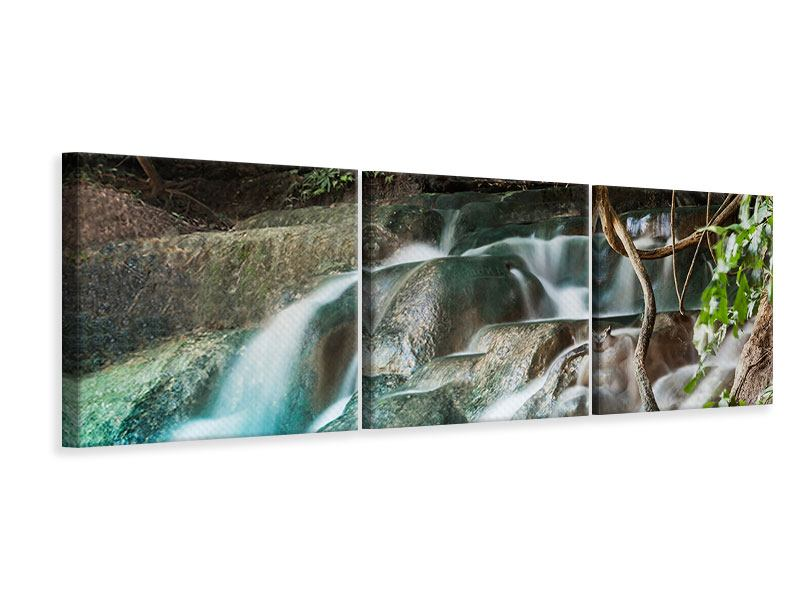 Panorama Leinwandbild 3-teilig Am Fluss des Lebens