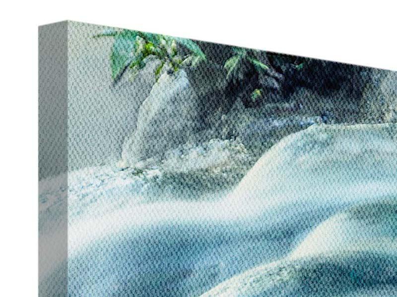 Panorama Leinwandbild 3-teilig Das Fliessende Wasser