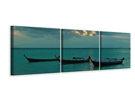 Panorama Leinwandbild 3-teilig Ozean