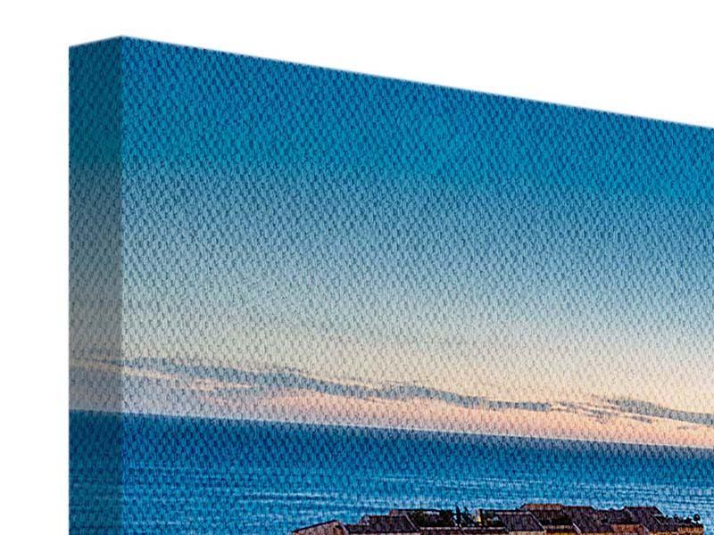 Panorama Leinwandbild 3-teilig Monaco