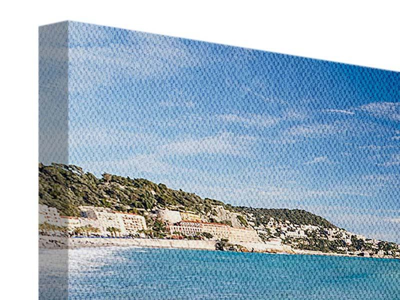 Panorama Leinwandbild 3-teilig Cote D`Azur