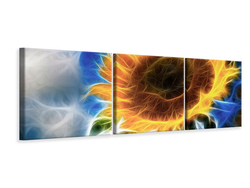 Panorama Leinwandbild 3-teilig Der Sonne entgegen