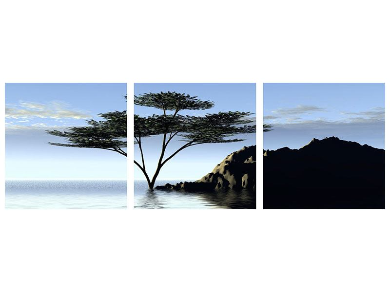 Panorama Leinwandbild 3-teilig Naturfaszination