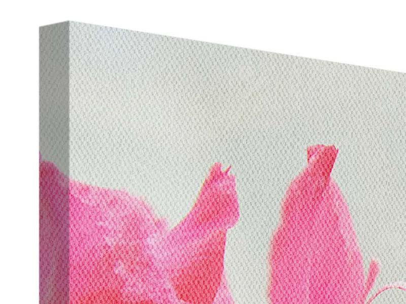 Panorama Leinwandbild 3-teilig Gladiolen