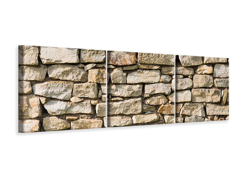Panorama Leinwandbild 3-teilig Natursteine