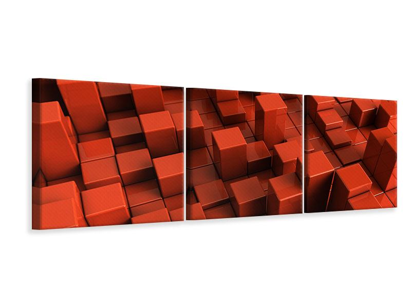 Panorama Leinwandbild 3-teilig 3D-Rechtkant
