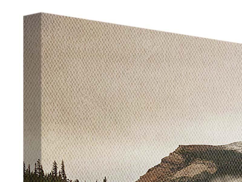 Panorama Leinwandbild 3-teilig Spiegelung im Glacier Nationalpark