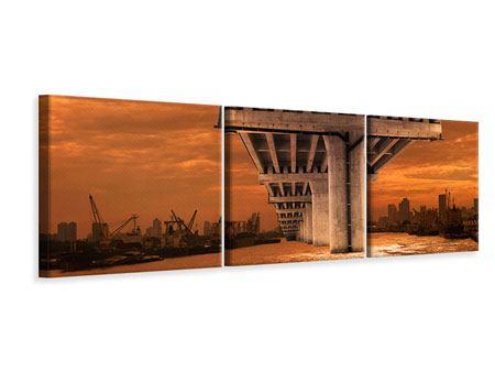 Panorama Leinwandbild 3-teilig Die Brücke