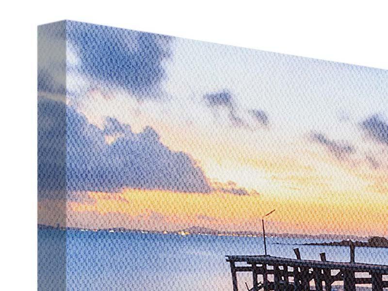 Panorama Leinwandbild 3-teilig Inseltraum