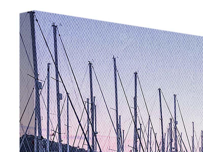 Panorama Leinwandbild 3-teilig Yachthafen