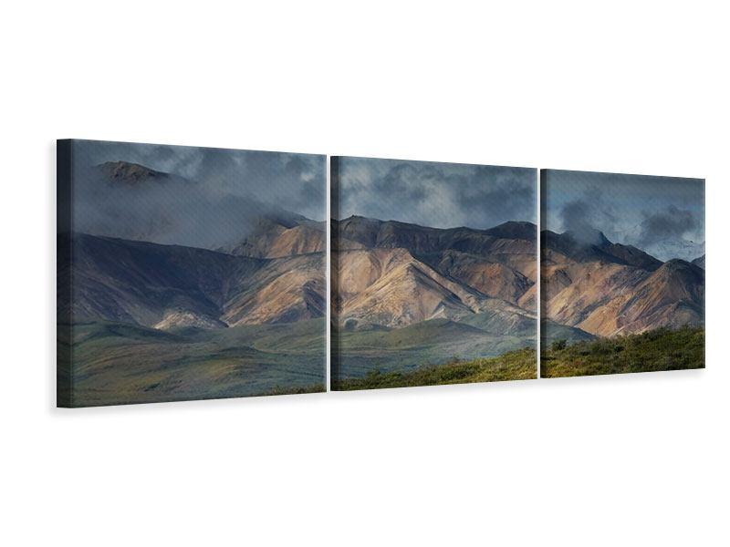 Panorama Leinwandbild 3-teilig Silberstreifen