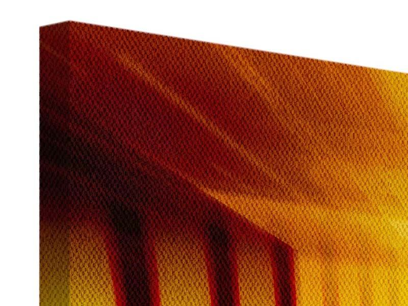 Panorama Leinwandbild 3-teilig Abstrakter Goldener Raum