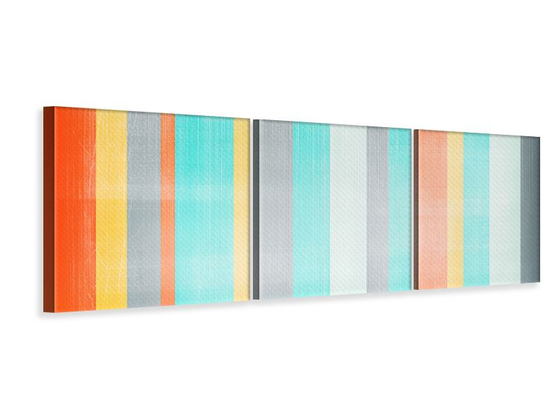 Panorama Leinwandbild 3-teilig Grunge Streifen