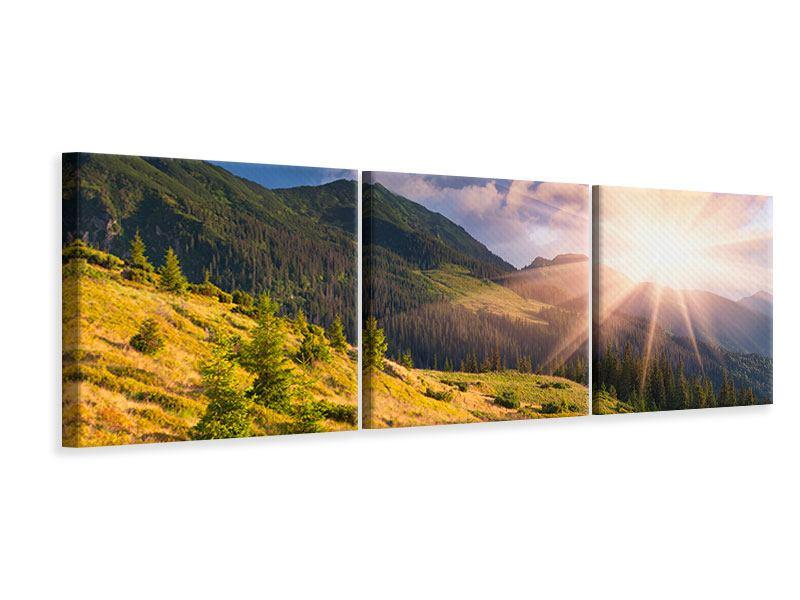 Panorama Leinwandbild 3-teilig Herbstanfang