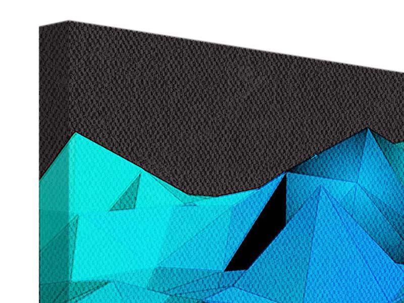 Panorama Leinwandbild 3-teilig 3D-Diamonds